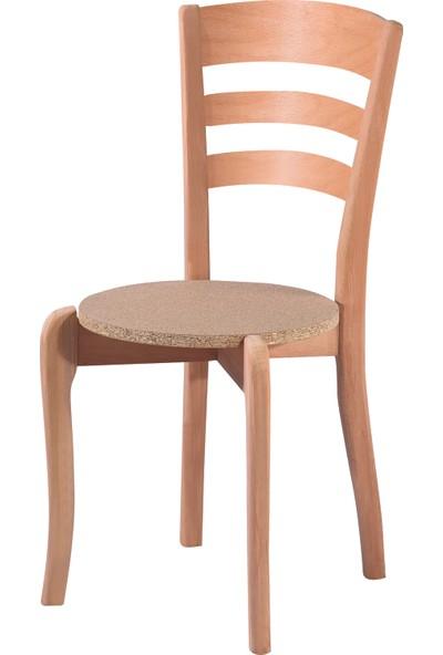 Obuts Home 4578 Üç Tepeli Sandalye Cilasız Ahşap Ham
