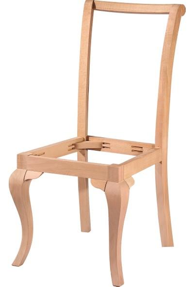 Obuts Home 4615 Giydirme Sandalye Rustik Cilasız Ahşap Ham