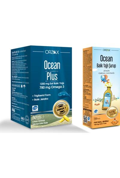 Ocean Plus 1200 mg 50 Kapsül + Ocean Şurup Portakal