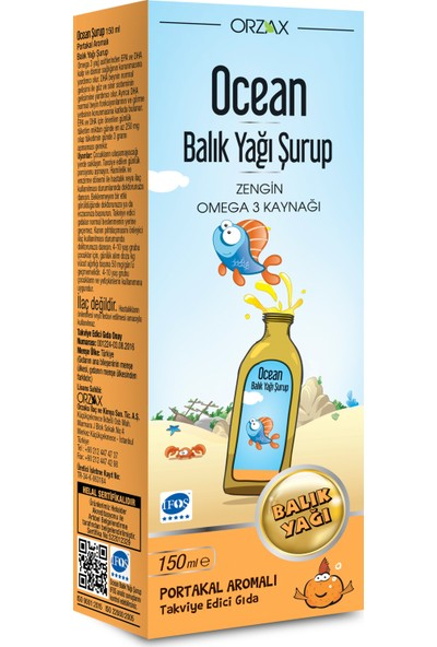Ocean Şurup Portakal 150 ml