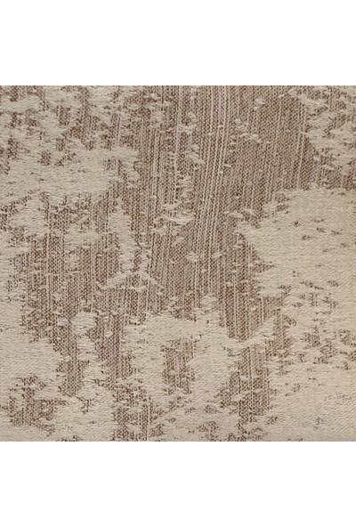 Caserta Home Bulut Desen Taş Sık Pileli Jakar Tek Kanat Fon Perde - Ezo 12760