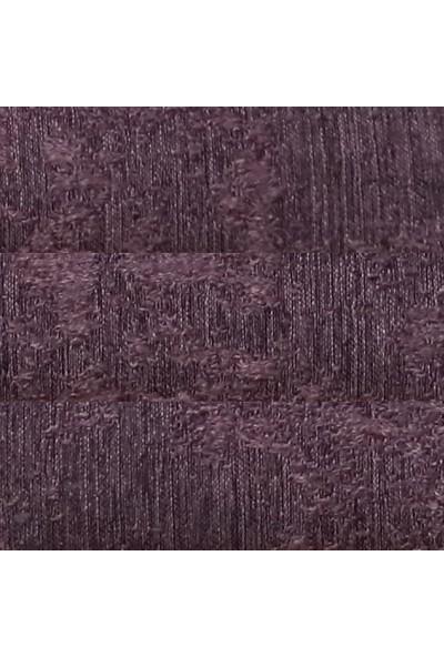 Caserta Home Bulut Desen Mor Orta Sıklıkta Pileli Jakar Tek Kanat Fon Perde - Ezo 12720