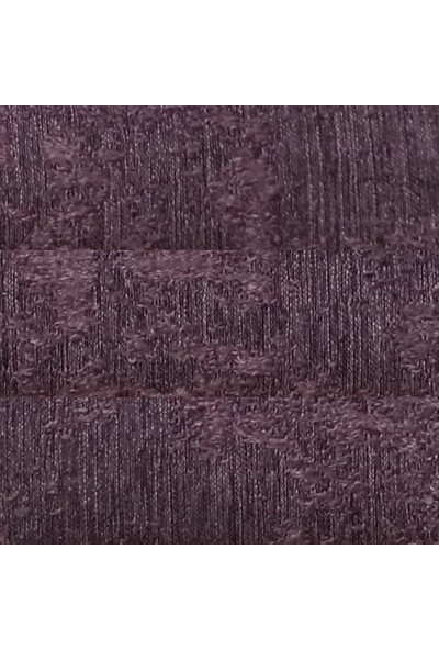 Caserta Home Bulut Desen Mor Sık Pileli Jakar Tek Kanat Fon Perde - Ezo 12720