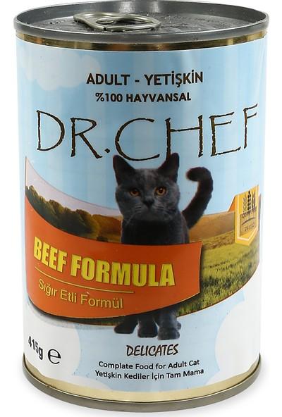 Dr. Chef Sığır Etli Tahılsız Konserve Kedi Maması 415 gr