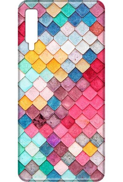 Svart Case Samsung A7 2018 Renkli Taşlı Silikon Telefon Kılfı