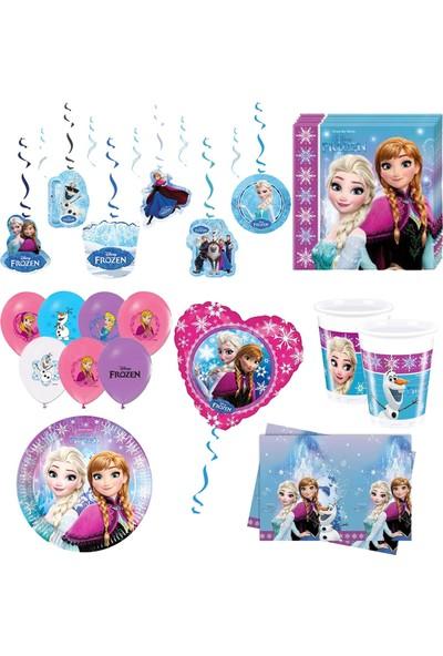 Balonpark 16 kişilik Elsa Frozen Karlar Ülkesi Anna Parti Malzemeleri Doğum Günü Seti