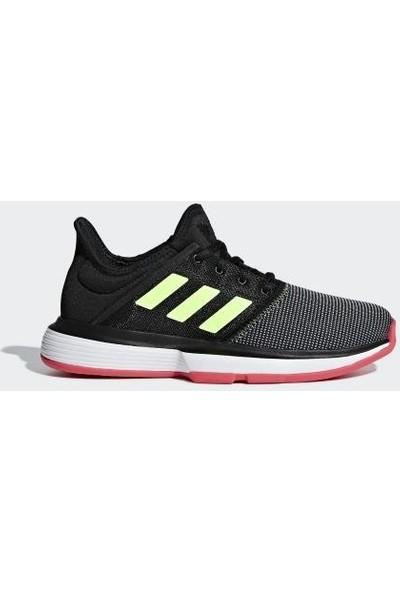 Adidas Soulcourt Xj Cg6464 Siyah Çocuk Tenis Ayakkabısı