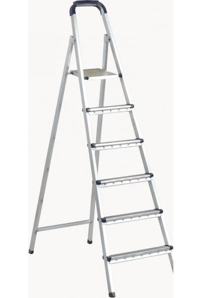 Zigana Merdiven Galvaniz 5+1 Basamaklı