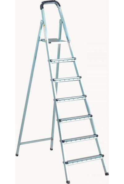 Zigana Merdiven Galvaniz 6+1 Basamaklı