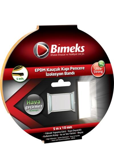 Bimeks Epdm Kauçuk Kapı Pencere Bandı 5Mmx10Mmx5Mt Beyaz