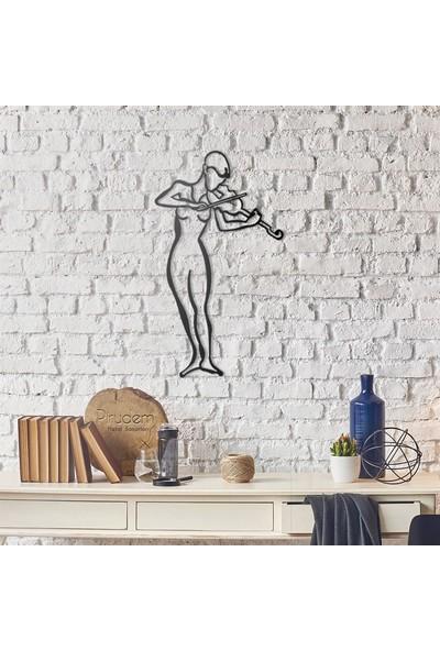 Pirudem Violinist Metal Duvar Süsü