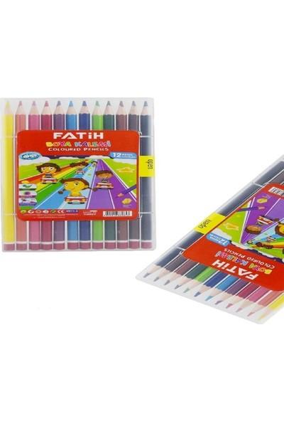 Fatih 12 Renk Tam Boy Çantalı Kuru Boya Kalemi