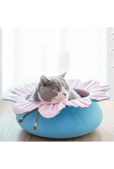 Pets Çiçek Şekilli Kedi Yatağı Pembe/Mavi Ø50 Cm