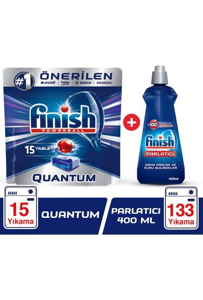 Finish Quantum 15 Tablet Bulaşık Makinesi Deterjanı + Finish Parlatıcı 400 ml
