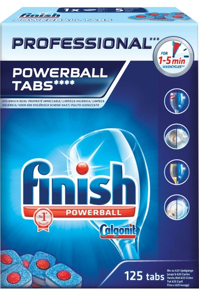Finish Professional 125 Tablet Bulaşık Makinesi Deterjanı