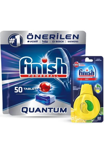 Finish Quantum 50 Tablet Bulaşık Makinesi Deterjanı + Finish Bulaşık Makinesi Kokusu