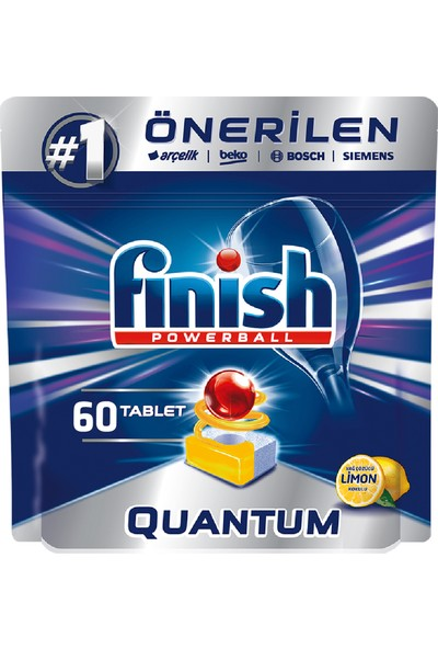 Finish Quantum 60 Tablet Bulaşık Makinesi Deterjanı Limon