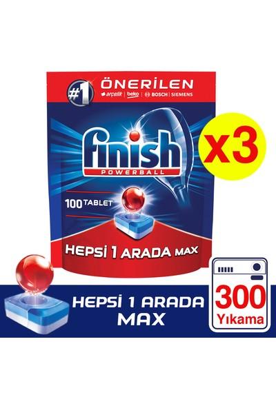 Finish Hepsi Bir Arada 300 Tablet Bulaşık Makinesi Deterjanı (100x3 )