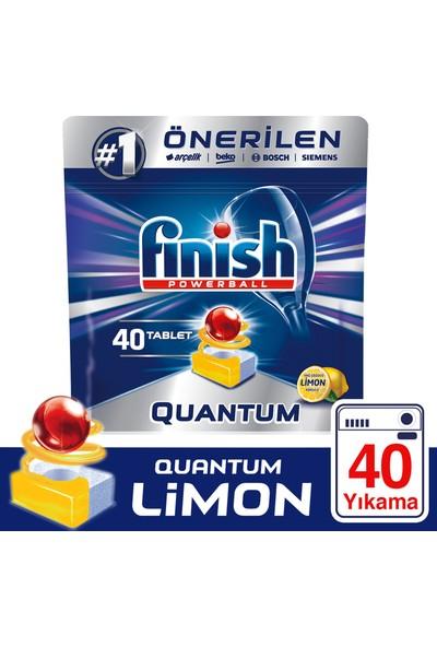 Finish Quantum 40 Tablet Bulaşık Makinesi Deterjanı Limon Ferahlığı