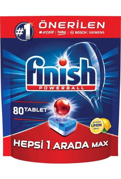 Finish Hepsi Bir Arada 80 Tablet Bulaşık Makinesi Deterjanı Limon