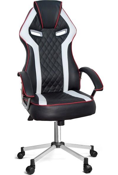 Ofisin Hazır Optimus Oyuncu Koltuğu Beyaz