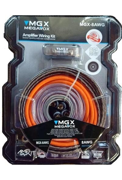 Megavox 8Ga Kalın-Kaliteli Ve Profesyonel Full Set Kablosu - Y Kablo Hediyedir