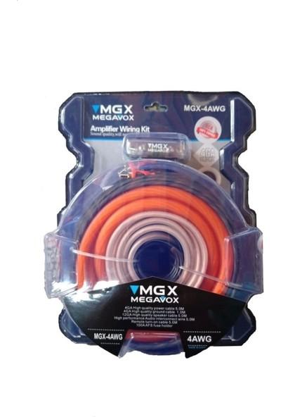 Megavox 4Ga Kalın-Kaliteli Ve Profesyonel Full Set Kablosu - Y Kablo Hediyedir