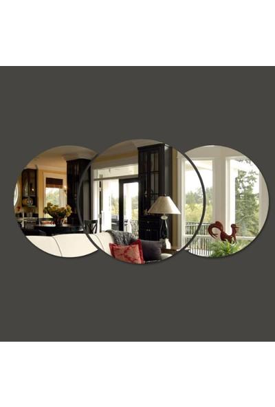 Ayna Fabrikası Ring Model Dekoratif Salon veya Oturma Odası Kapı Girişi Duvar Süsleme