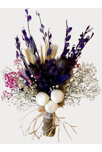 Happy Peyzaj Kuru Çiçek Yapay El Çiçeği