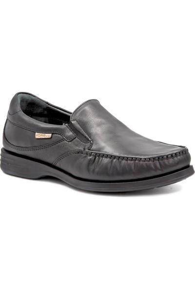 Forelli 35301 Erkek Siyah Deri Comfort Ayakkabı