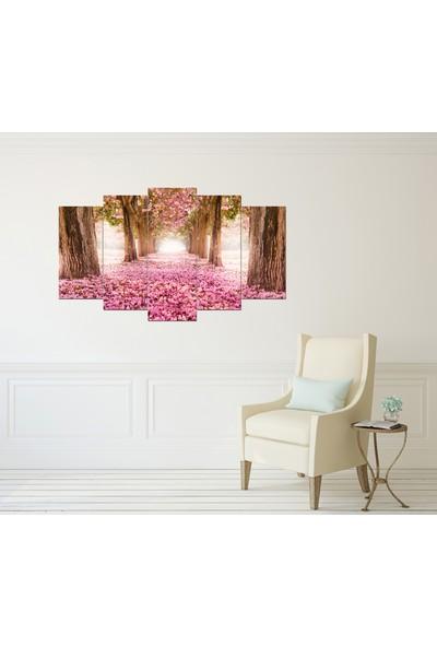 Alice Decor Çiçek Yolu Dekoratif 5 Parça Mdf Tablo