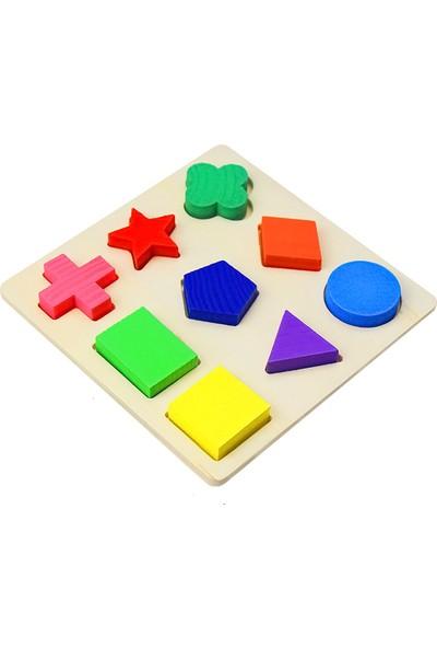 Piramigo Ahşap Bul-Tak Kavram Geometri Şekil Seti A