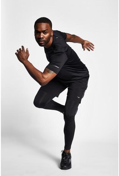 Lescon 19B-1008 Siyah Erkek Koşu Kısa Kollu T-Shirt