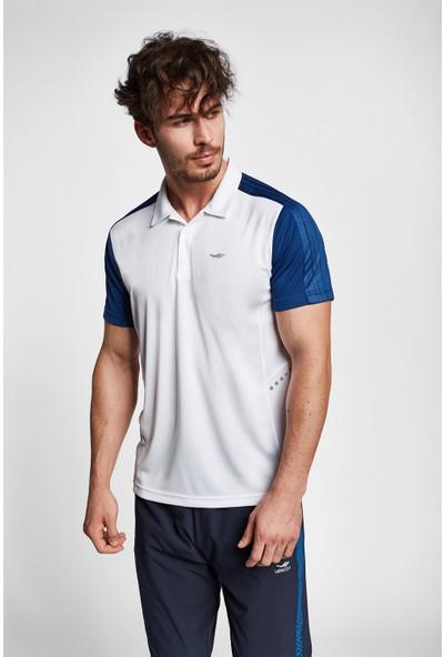 Lescon 19B-1068 Beyaz İndigo Erkek Kısa Kollu Polo Yaka T-Shirt
