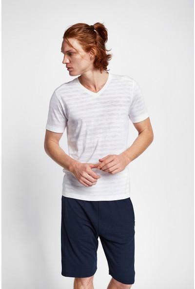 Lescon 19B-1151 Beyaz Erkek Kısa Kollu T-Shirt