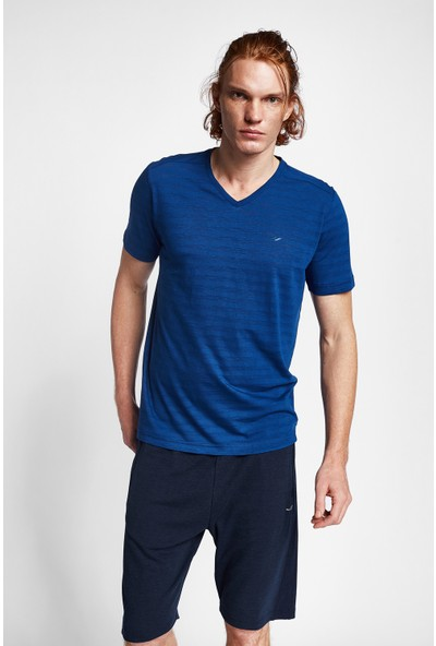 Lescon 19B-1151 İndigo Erkek Kısa Kollu T-Shirt