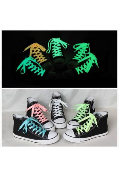 Fosforlu Işıklı Parlayan Ayakkabı Bağcık