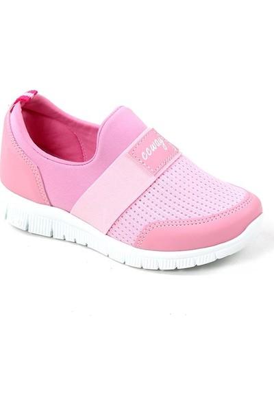 Ccway Pembe Fileli Günlük Yürüyüş Kız Çocuk Spor Ayakkabı
