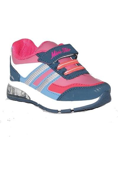 Ministar 010 Cırtlı Işıklı Bebe Günlük Kız Çocuk Spor Ayakkabı