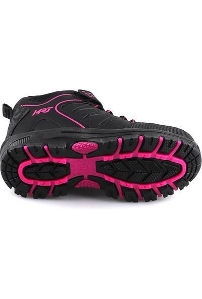 Maranta Siyah Fuşya Günlük Cırtlı Kız Çocuk Spor Bot Ayakkabı
