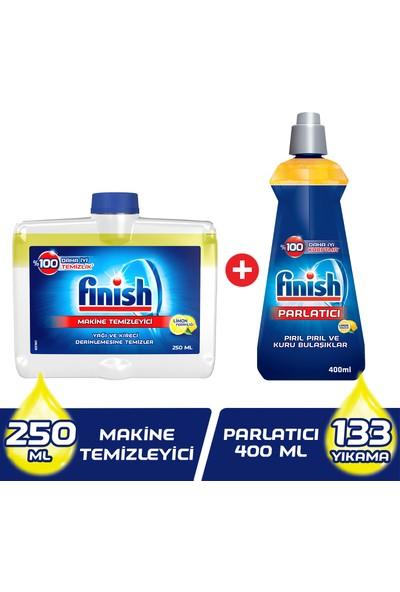 Finish Bulaşık Makinesi Temizleyici Sıvı 250 ml + Finish Parlatıcı Limon 400 ml