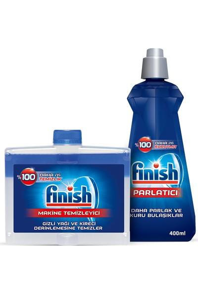 Finish Bulaşık Makinesi Temizleyici Sıvı 250 ml + Finish Parlatıcı 400 ml