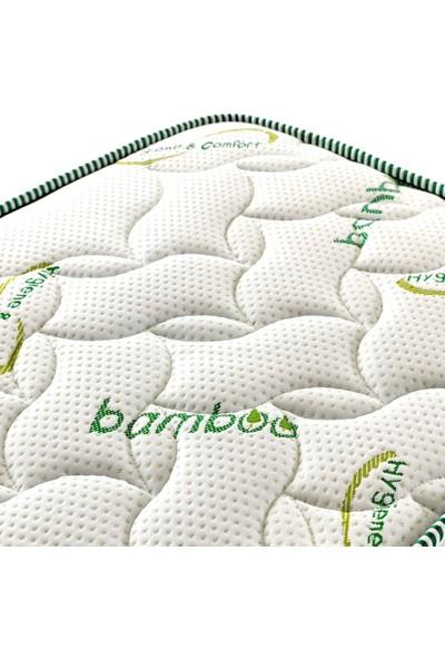 Pooly Bamboo Kumaş Yaylı Yatak Lüx Soft Yaylı Yatak 90x200 Cm