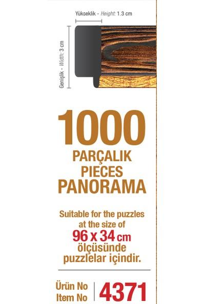 Art Puzzle Çerçevesi 1000'Lik Kahverengi Panorama Çerçevesi