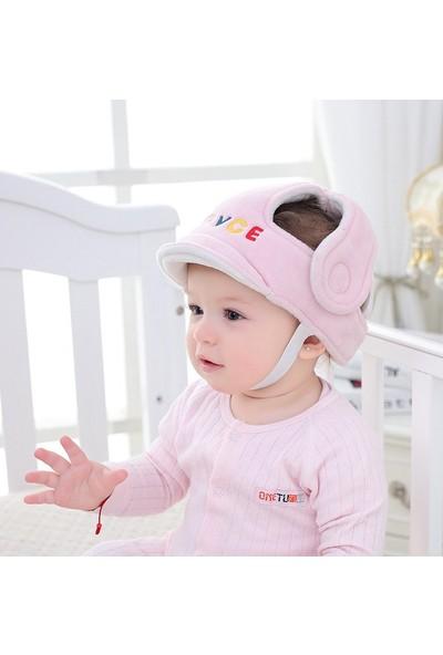 LetBabyBo Bebek Kafa Koruma Emniyet Kaskı Ayarlanabilir Ölçü Pembe