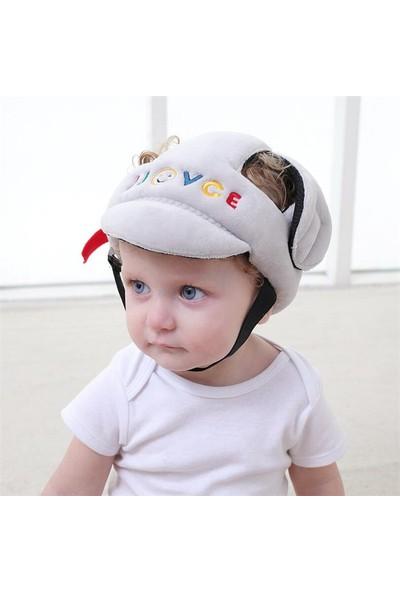 LetBabyGo Bebek Kafa Koruma Emniyet Kaskı Ayarlanabilir Ölçü Gri