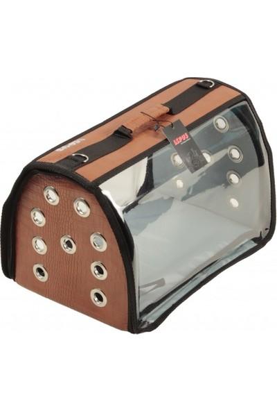 Lepus Şeffaf Flybag Kedi Köpek Taşıma Çantası Taba 25 x 25 x 40 cm