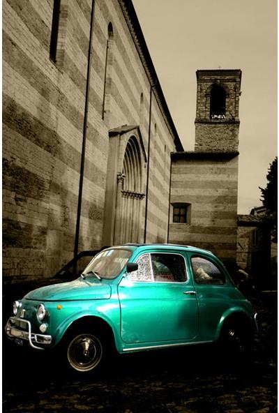 Vizyon Sanat Küba'Da Yeşil Klasik Araba