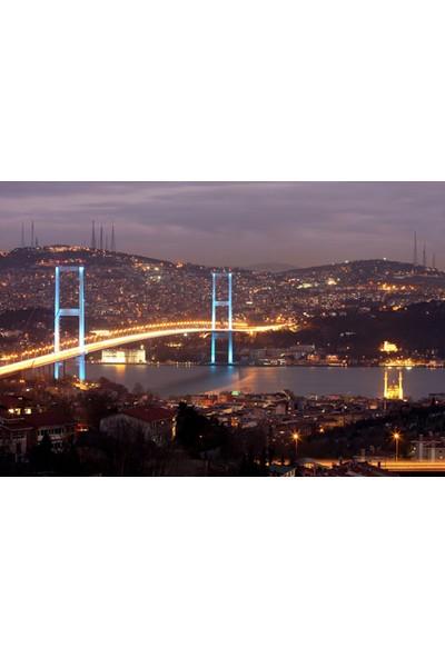 Vizyon Sanat Gece Boğaziçi Köprü Manzarası