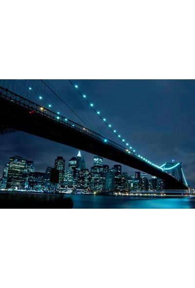 Vizyon Sanat Manhattan Gece Fotoğrafı